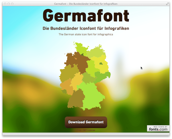 germafont - the german state icon font for infographics