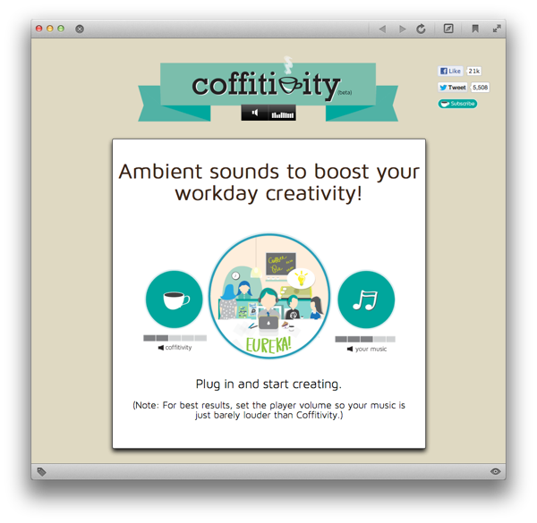 coffitivity Ambient sounds to boost your workday creativity!