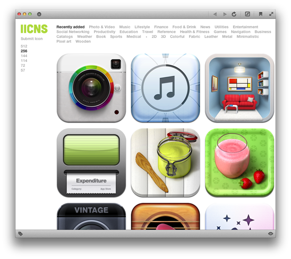 iicns – a gallery of beautiful iOS app icons | TOBYSTEREO
