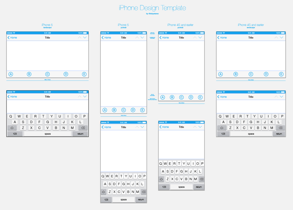 iPhone Design Template - Ready for iOS7