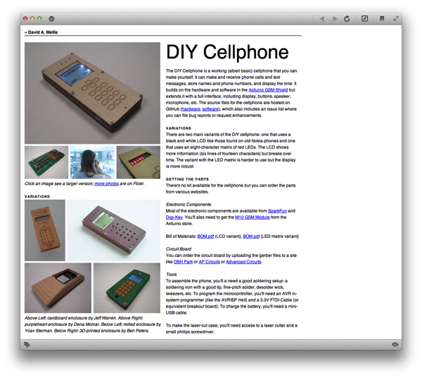DIY Cellphone