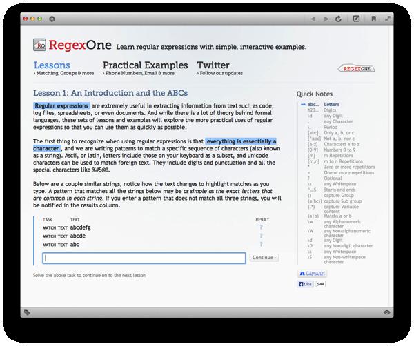 Regex One