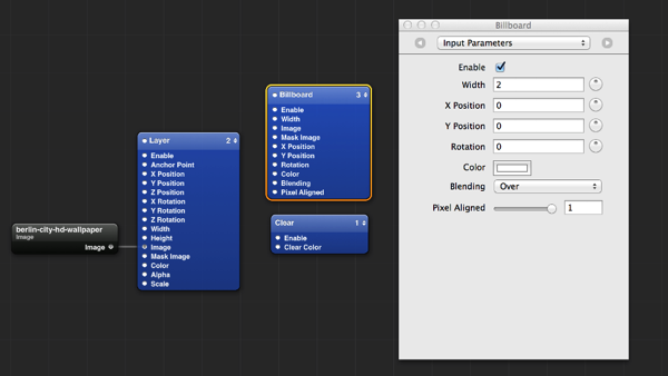 Add a billboard patch and adjust the width and pixel aligned values