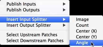 insert an input splitter for the angle value