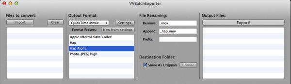 VVBatchExporter
